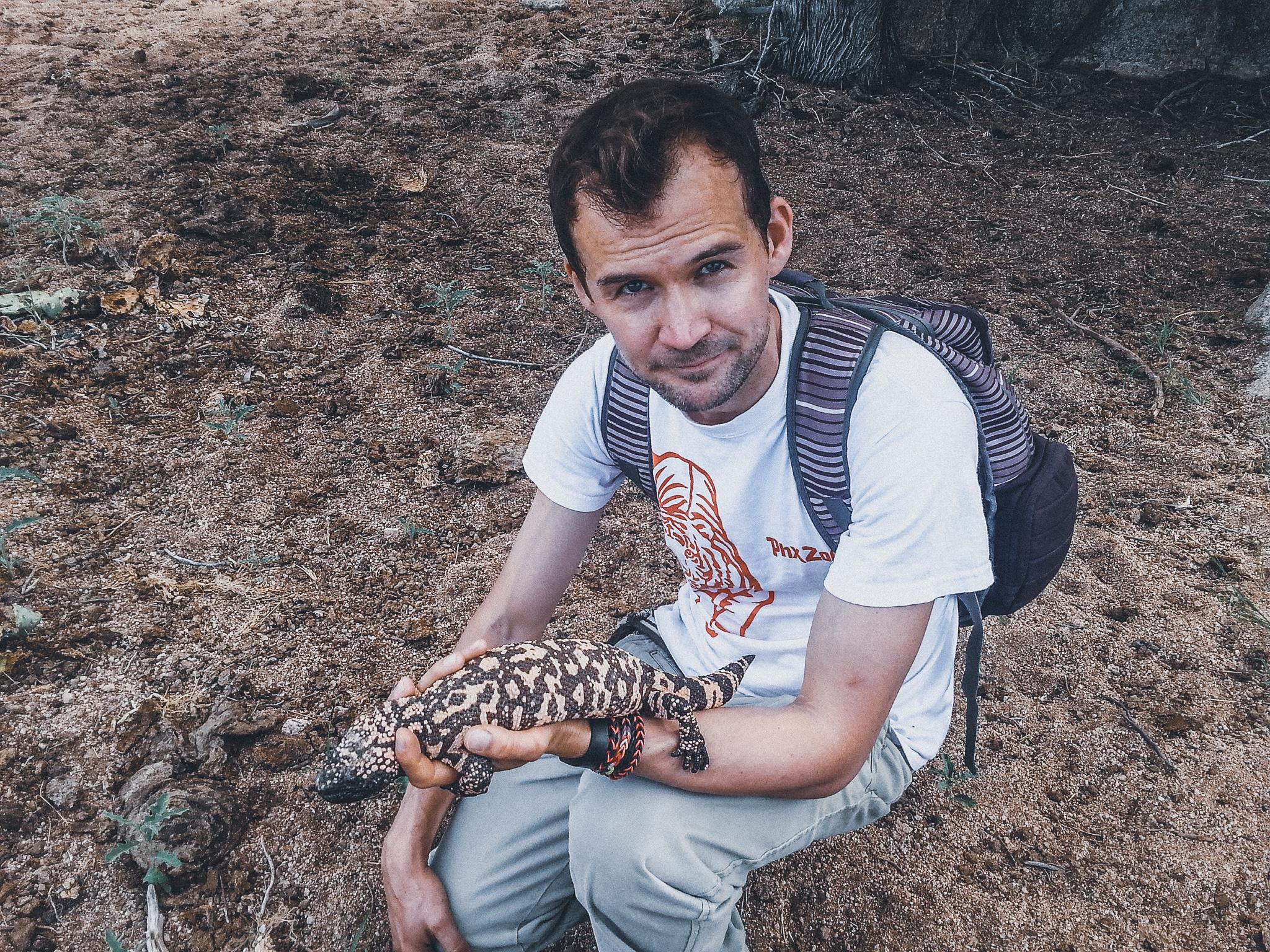 Drew with Lizard-2